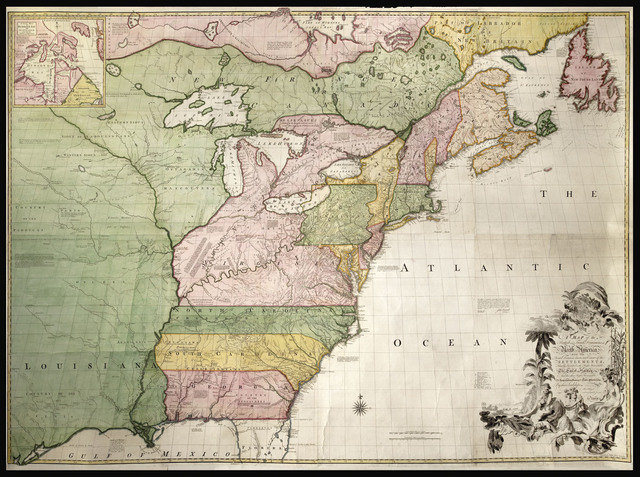 , 'A Map of the British and French Dominions in North America. With the Roads, Distances, Limits, and Extent of the Settlements, Humbly Inscribed to the Right Honourable the Earl of Halifax, And the other Right Honourable The Lords Commissioners for Trade & Plantations, by their Lordships. Most Obliged and very humble Servant Jno, Mitchell.,' 1755, Daniel Crouch Rare Books