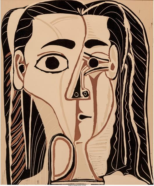 Pablo Picasso, 'Jacqueline au bandeau de face (Grand tête de femme)', 1962, Heritage Auctions