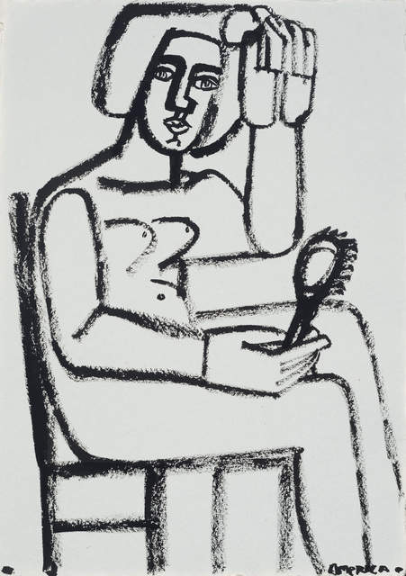 , 'Woman with Hair Brush,' 2016, JoAnne Artman Gallery