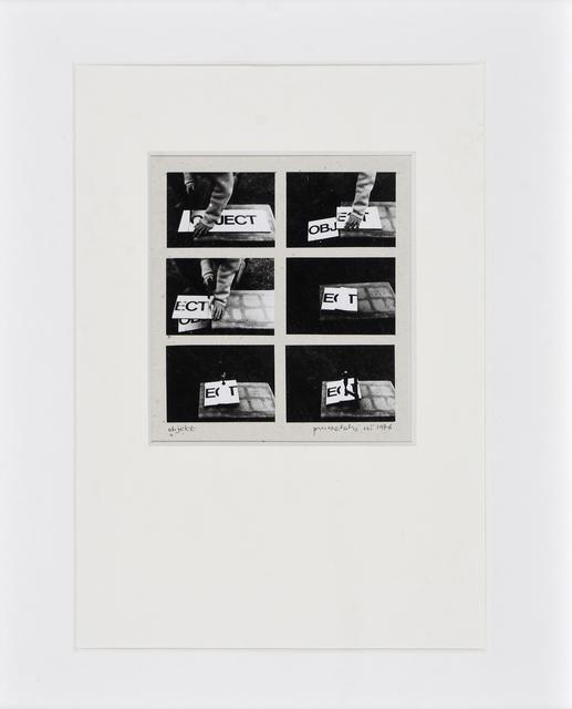 , 'Object,' 1976, SAGE Paris