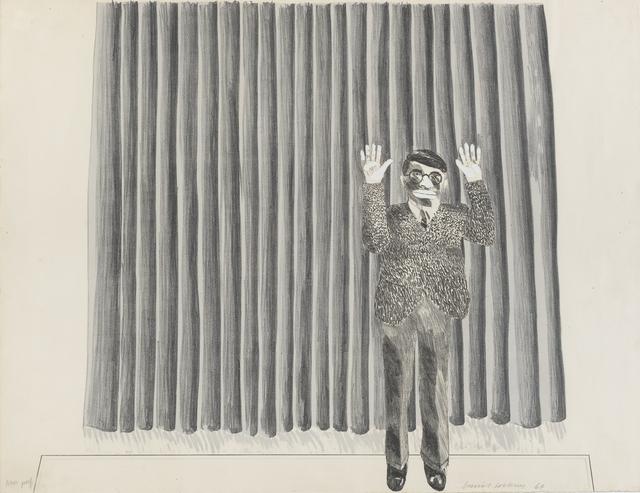 David Hockney, 'Figure by a Curtain ', 1964, Marlborough London