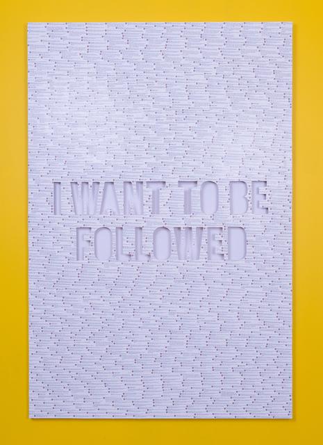 , 'Followed,' 2017, Wallplay