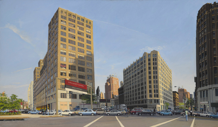 Rackstraw Downes, 'Approach to the Holland Tunnel with 75 Varick,' 1989, Sotheby's: Contemporary Art Day Auction