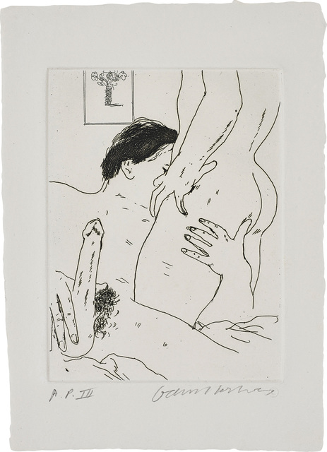 David Hockney, 'An Erotic Etching', 1975, Phillips