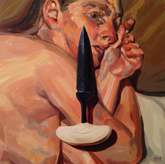 , 'Freud with push dagger,' 2015, Abbozzo Gallery