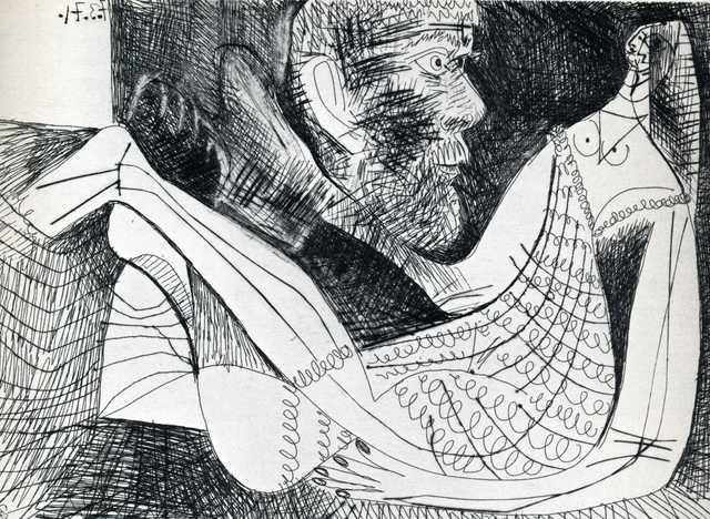 , 'Peintre et modèle an robe tricotée,' 1971, Galeria Joan Gaspar