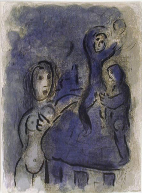 Marc Chagall, 'Rahab and the Spies of Jericho', 1960, Print, Lithograph, Galerie d'Orsay