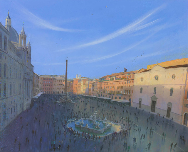 , 'Evening in the Piazza Navona,' 2017, Portland Gallery