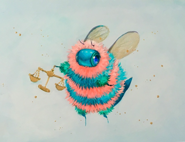 Camilla d'Errico, 'Beebra', 2019, Painting, Duo oils and acrylic on board, Haven Gallery