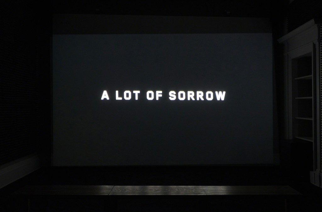 Installation view of Ragnar Kjartansson, 'A Lot of Sorrow', 2013. Single-channel video, 6 hours and 9.35 minutes. Ingleby, Edinburgh (8 August - 2 September 2017)