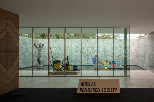 , 'Phantom. Mies as Rendered Society. Cleaning,' 2013, Pepe Cobo