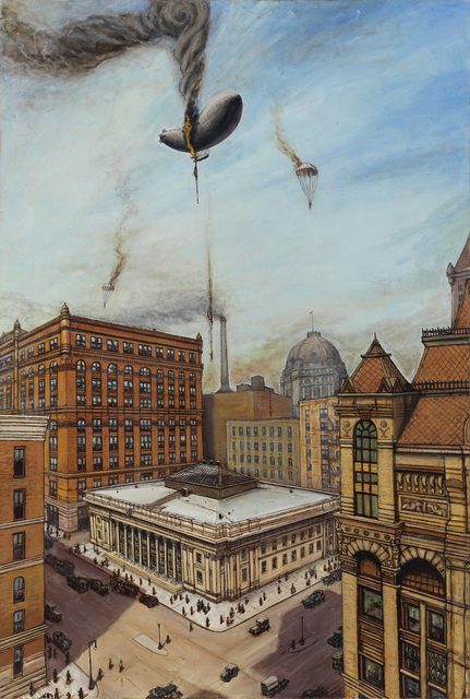 Eric Edward Esper, 'The Final Flight of the Wingfoot Express', 2015, Painting, Oil on canvas, Gallery Victor Armendariz