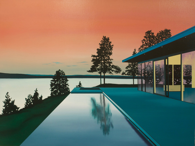 , 'Infinity Pool at Dusk,' 2018, Rebecca Hossack Art Gallery