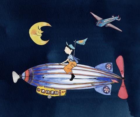 Yukie Yasui, 'Zeppelin Fly Me To The Moon', ArtStar