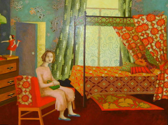 , 'Woman Waiting in Hotel Bedroom,' , Quantum Contemporary Art