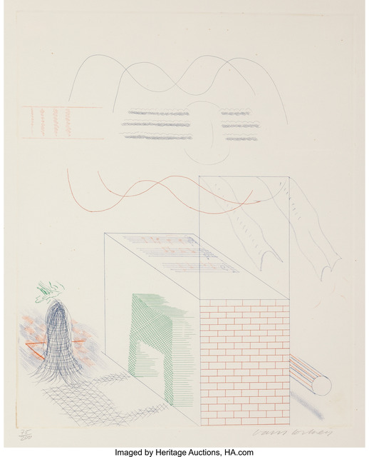 David Hockney, 'The Buzzing of the Blue Guitar', 1976-77, Heritage Auctions