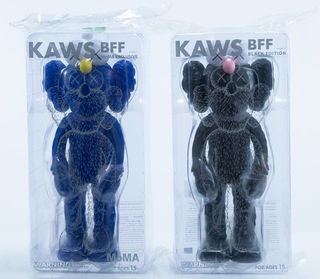KAWS, 'BFF Companion (Black and MoMa), two works', 2017, Heritage Auctions