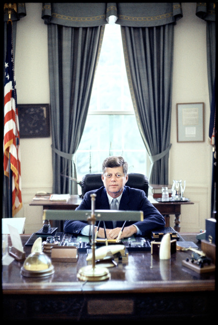 , 'John F. Kennedy in the Oval Office,' 1962, CAMERA WORK