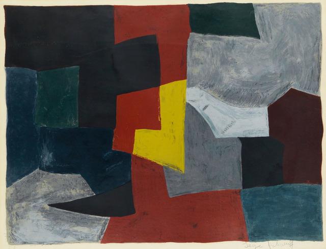Serge Poliakoff, ' Composition grise, rouge et jaune n°27', 1960, Le Coin des Arts