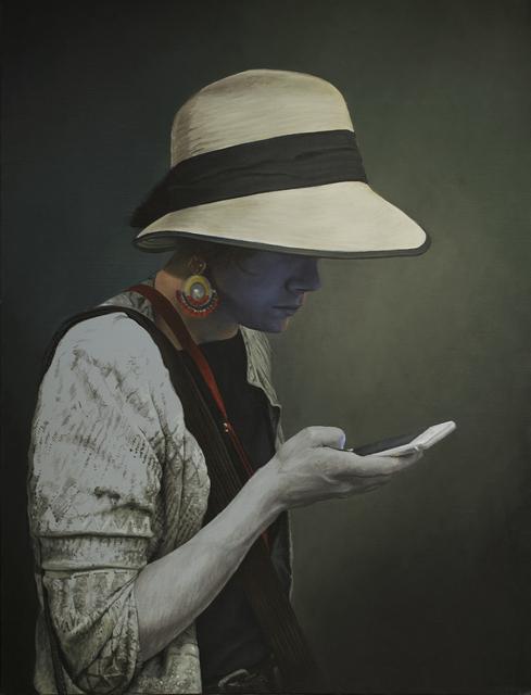 Enrique Etievan, ' Message Cachè', 2019, Painting, Oil on Canvas, ARTSPACE 8