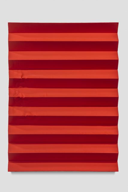 , 'Pilgrimage (Accordion Fold, Naphthol Red),' 2017, Anthony Meier Fine Arts