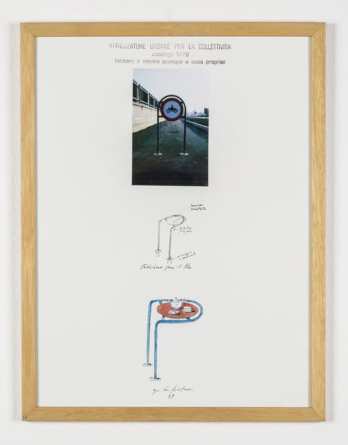 """Ugo La Pietra, 'Serie """"Attrezzature urbane per la collettività"""" - Tavolino per il thè', 1979, Galleria Bianconi"""