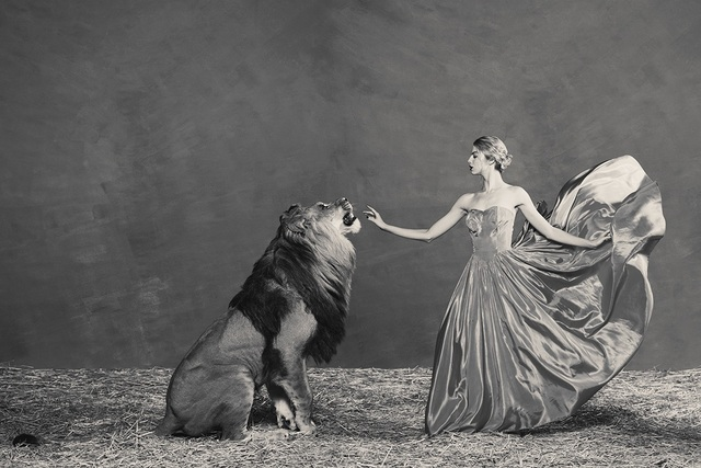 Tyler Shields, 'The Lion Queen', ca. 2019, Samuel Lynne Galleries