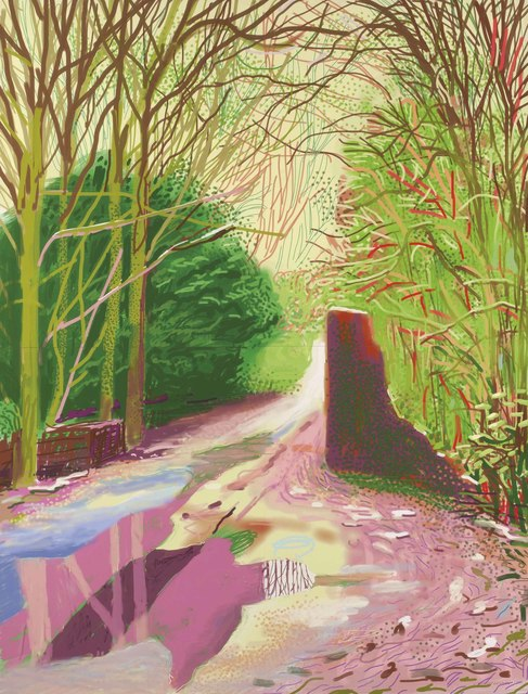David Hockney, 'The Arrival of Spring in Woldgate, East Yorkshire in 2011 (twenty eleven) – 2 January 2011', 2011, Christie's