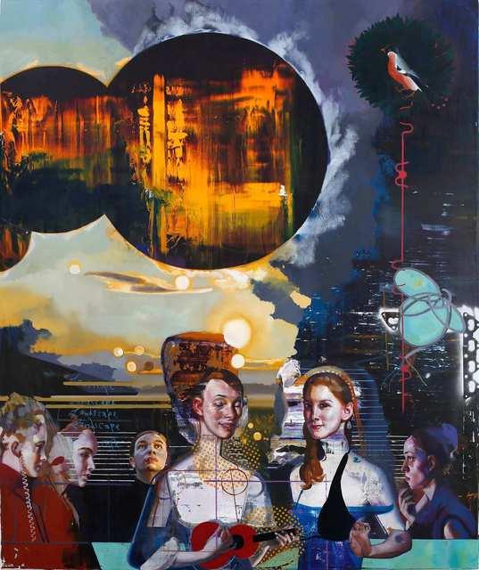 Rayk Goetze, 'Das Spiel', 2020, Painting, Oil and acrylic on canvas, Josef Filipp Galerie