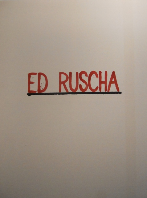 , 'Ed Ruscha,' 2015, Ponce + Robles
