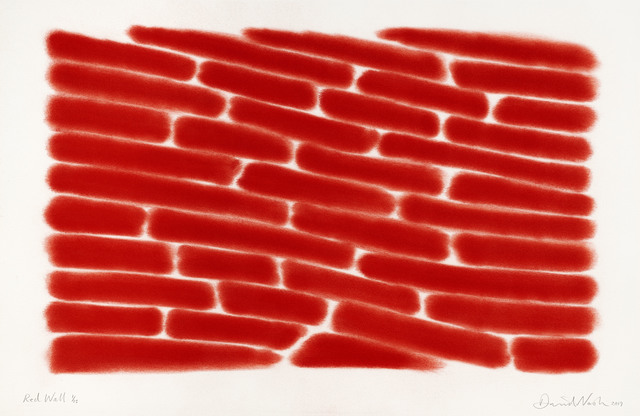 David Nash, 'Red Wall', 2019, Print, Pastel Stencil on Arches paper 250gsm, Cristea Roberts Gallery