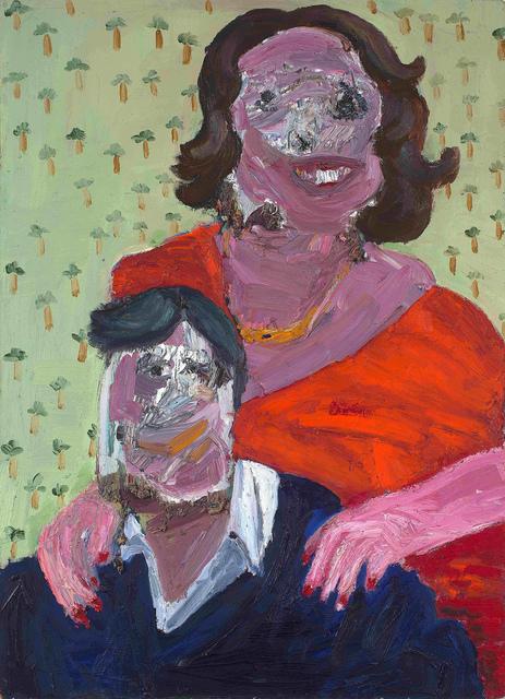 Georgina Gratrix, 'Happy Couple', Painting, Oil on board, Strauss & Co