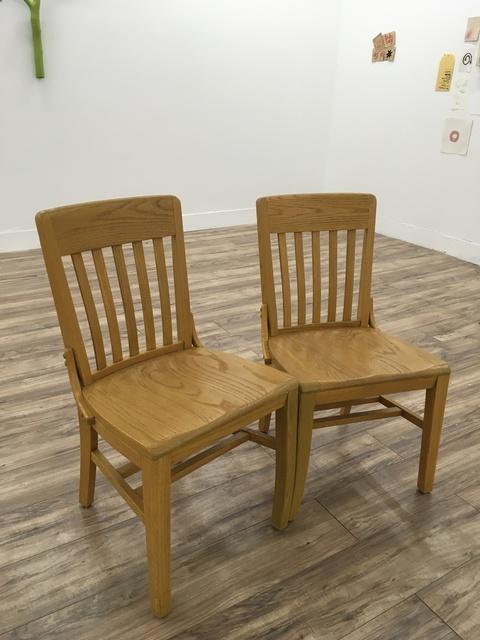 , 'Distracted (oak school chairs),' 2017, Resource Art