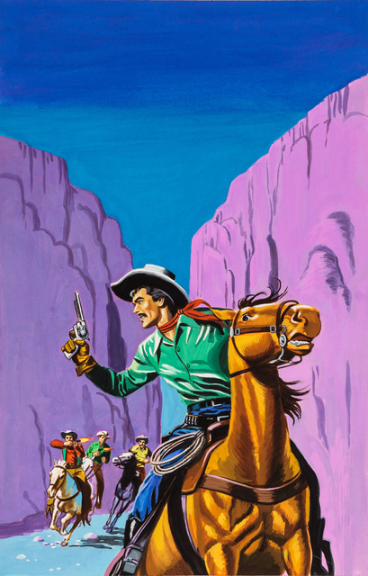 'Untitled (Cowboy running from outlaws) ', c. 1960-75, Ricco/Maresca Gallery