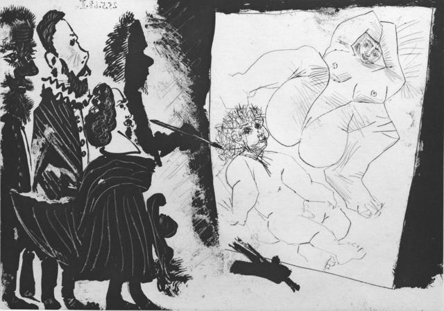 , 'Patron et sa suite en visite a l'atelier du vieux peintre,' 1968, Winchester Galleries