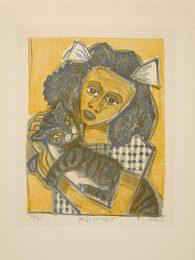 Mädchen mit Katze II