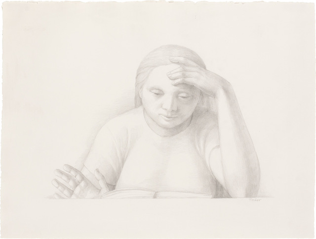 George Tooker, 'Woman Reading', 2001, Doyle