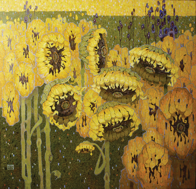 , 'Sunflowers,' 2017, Paul Scott Gallery & galleryrussia.com