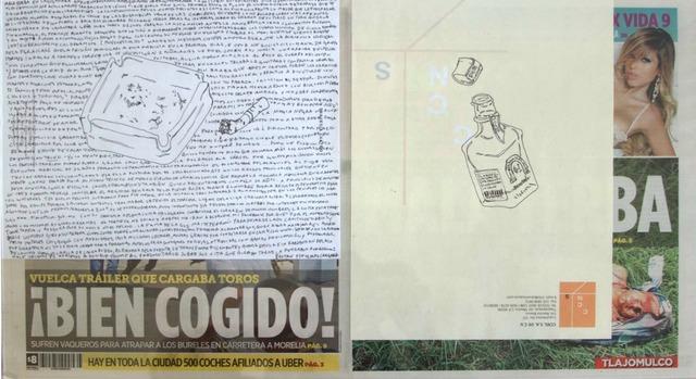 , 'Political Drawing (Metro: Guadalajara, Mexico, Martes 18 Agosto 2015),' 2015, Travesia Cuatro