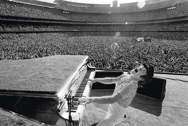 Terry O'Neill, 'Elton John performing at Dodger Stadium in Los Angeles, October', 1975, Jackson Fine Art