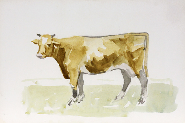 , 'Cow, Facing Left,' Executed in the mid 1970s, Davis & Langdale Company, Inc.