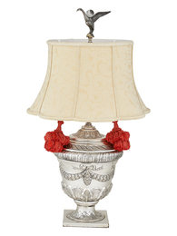 Silver Urn Form Lamp