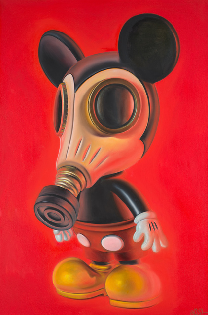 , 'Red Mousemask Murphy,' 2014, Weinstein Gallery