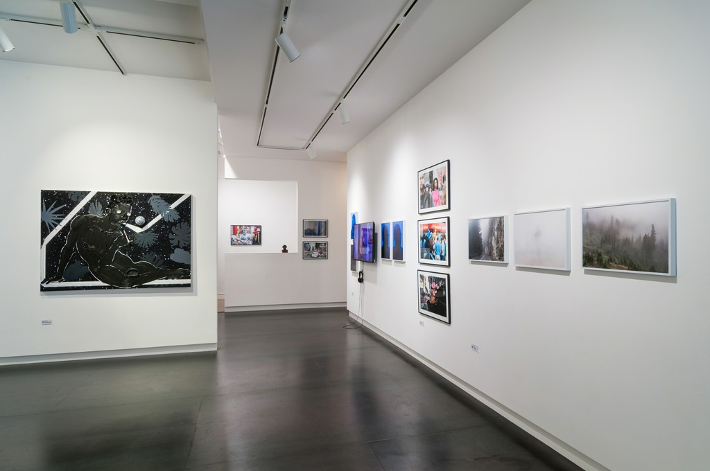 Works by Devon Shimoyama, Marian Carrasquero, Kris Graves and Zun Lee.