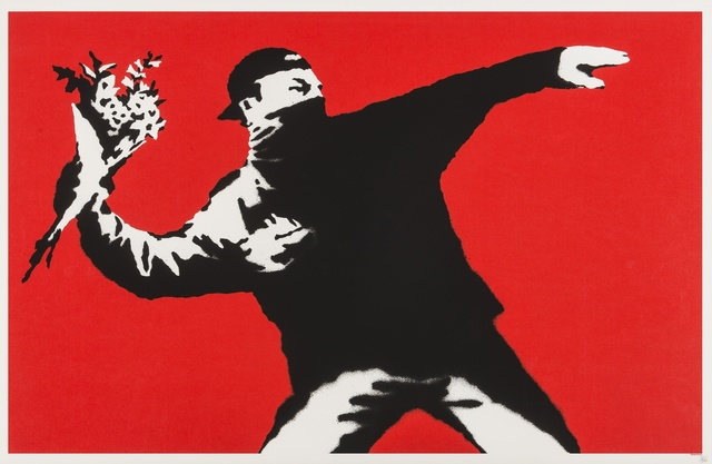 Banksy, 'Love is in the Air (Flower Thrower)', 2003, Forum Auctions