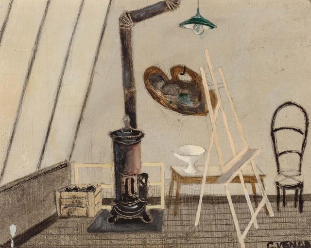 Claude Venard, 'La Poele dans L'Atelier', 1940, Painting, Oil on linen, Doyle
