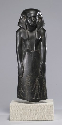 'Statue of a Vizier, Usurped by Pa-di-iset', ca. 1780-1700 B.C., Walters Art Museum