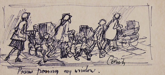 , 'Prams passing my window,' , Castlegate House Gallery