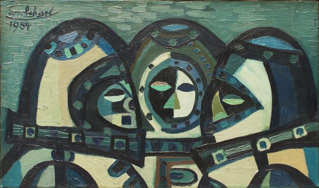 , 'Trio in Grau (Trio in Grey),' 1954, Hagemeier