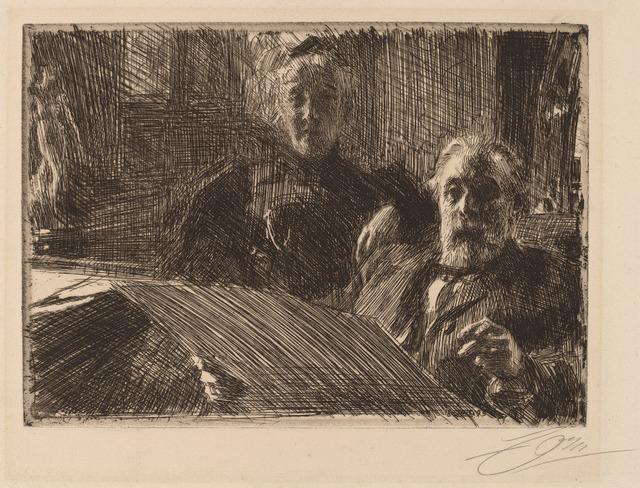 Anders Leonard Zorn, 'Mr. and Mrs. Furstenburg', 1895, National Gallery of Art, Washington, D.C.